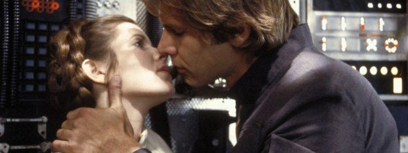 Beso princesa Leia y Han Solo